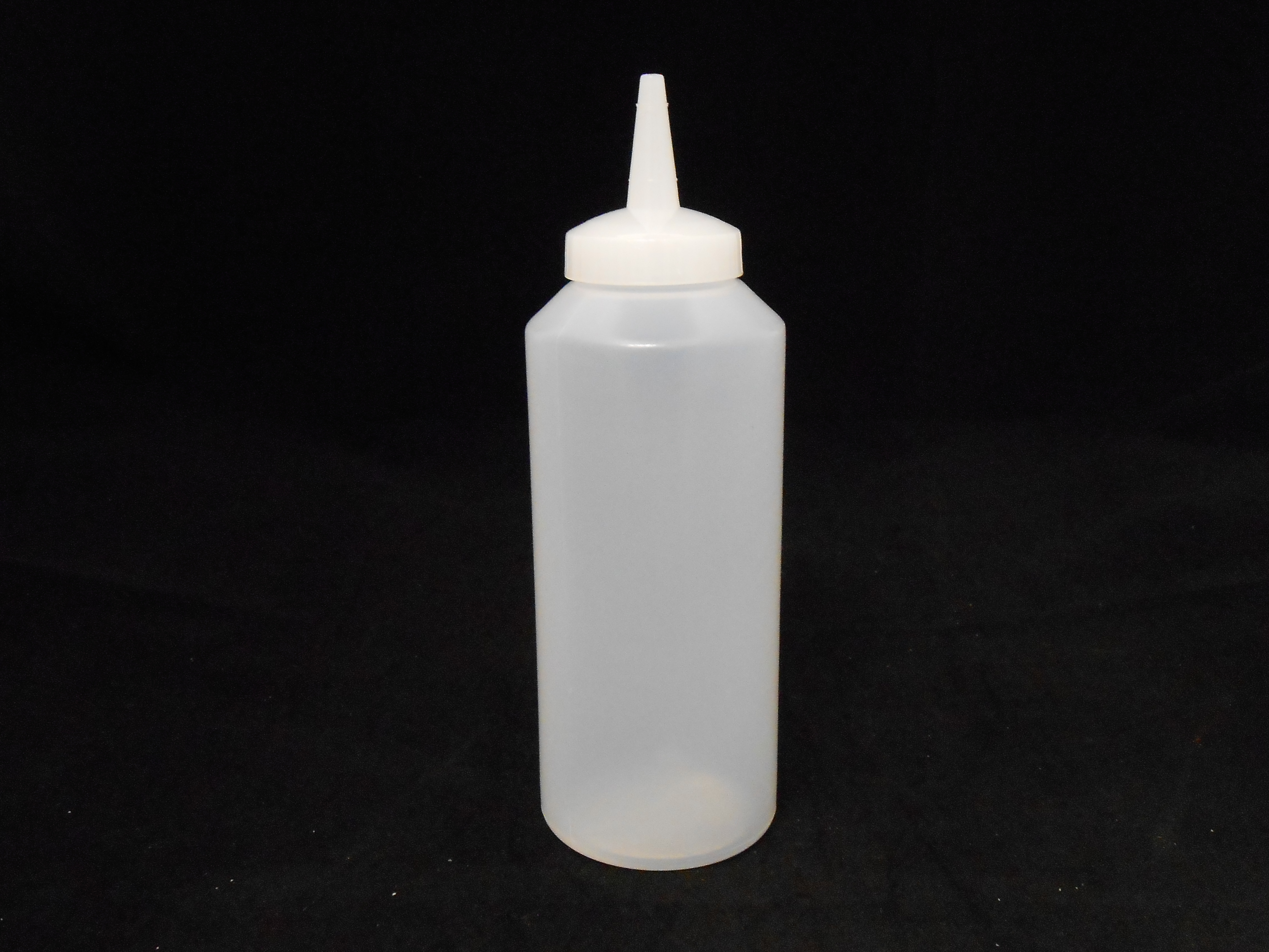 Plastic Clear 12 Oz Squeeze Bottles With Lids 1 Case